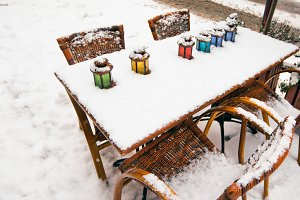 Winter street cafe
