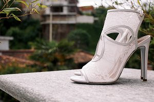 Rich elegant wedding shoes