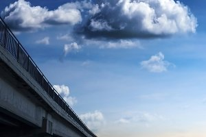 Bridge with clouds