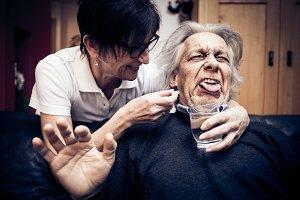 Senior Man Won't Take His Pills