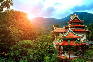 Chinese temple in jungle