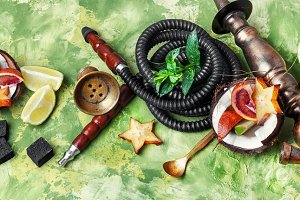 hookah with taste of tropical fruits