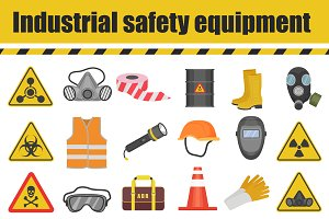 Industrial safety equipment icons