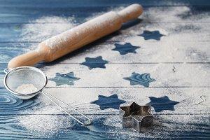 Flour on the board