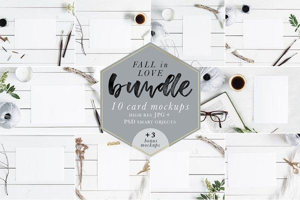 Fall In Love Bundle Mockups + Bonus