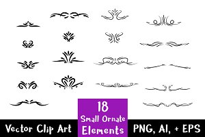 18 Small Ornate Decorative Elements