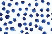 Blue watercolor dots pattern