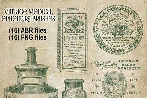 Vintage Medical Ephemera Brushes