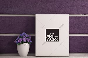 Canvas Mockup Lavender - Portrait