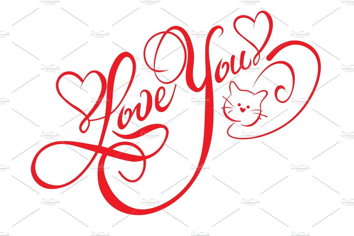Love You, Lettering Design ~ Script Fonts ~ Creative Market