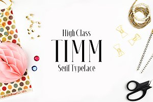 Timm Serif 4 Font Family Pack
