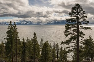 Stormy weather over Lake Tahoe, Nevada
