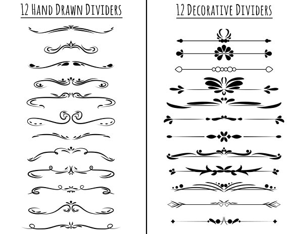 85 Flourishes- Clip Art Mega Pack in Illustrations - product preview 1