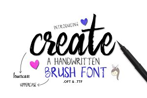 Create Brush Font