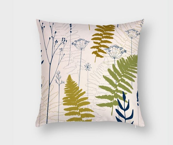 Fern leaves, lavender and dill  in Patterns - product preview 6