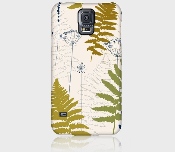 Fern leaves, lavender and dill  in Patterns - product preview 2