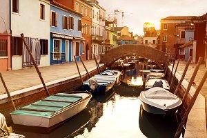 Beautiful Old Town Burano, Venice