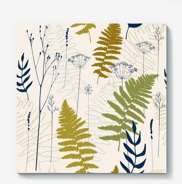 Fern leaves, lavender and dill  in Patterns - product preview 5