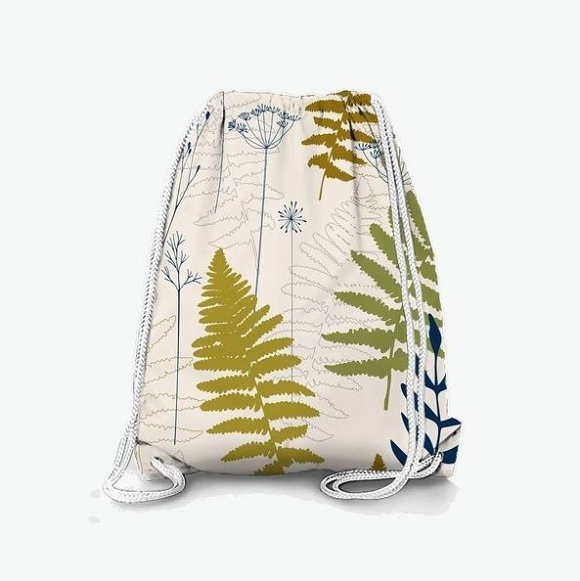 Fern leaves, lavender and dill  in Patterns - product preview 1