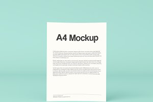 Standing A4 Mockup