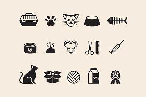 15 Cat Icons