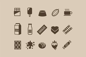 15 Chocolate Icons