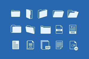 15 File Folder Icons