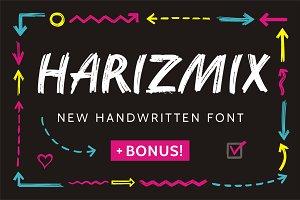 Harizmix Handwritten Marker Font