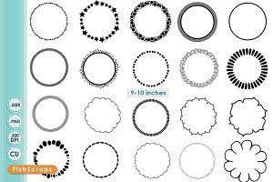 Simple Circle Border PNG Frames