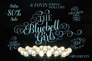 Bluebell - 6 fonts - 80% off!
