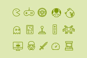 15 Video Game Icons