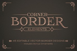 Corner Border Elements Set
