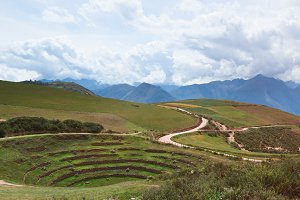 Sacred valley in Moray Peru