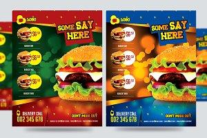 Burger Flyer Template PSD