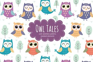 Owl Tales: pattern and elements