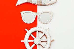 Marine style. Minimal design