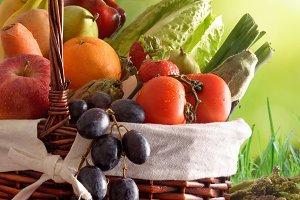 Fruits & vegetables soil vert. green