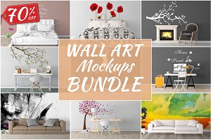 Wall Art Mockups BUNDLE V42