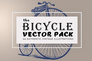 Vintage Bicycle Illustration Bundle