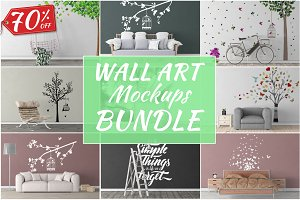 Wall Art Mockups BUNDLE V43