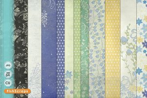 Blue Bell Patterned Papers 12x12