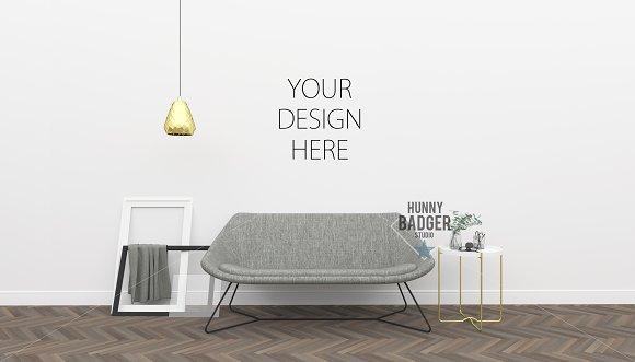 Living Room Mockup Poster Frame
