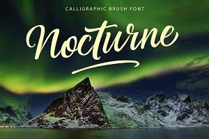 Nocturne Brush Font