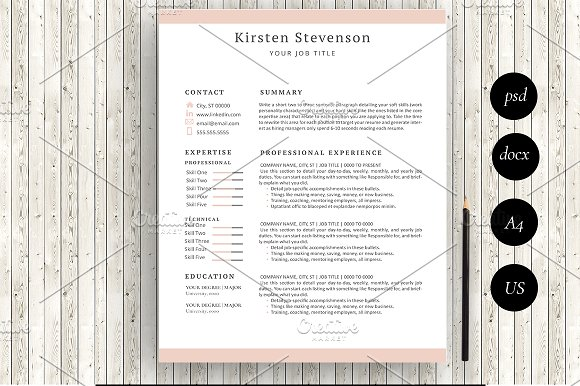Resume Template 5 Page Kirsten