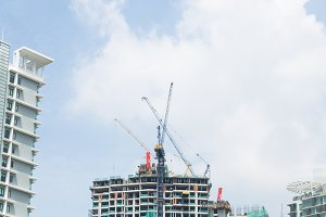 Crane construction building