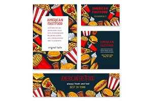 Vector banners posters for fast food restaurant