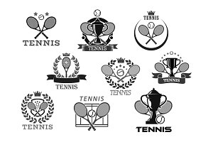 Vector icons for tennis club or tournament awards