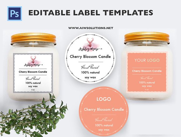 Candle Label Template Brochure Templates Creative Market