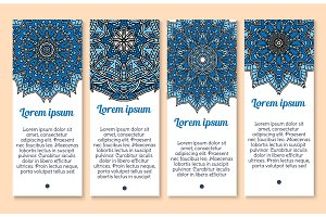 Vector banners Paisley or Mandala ornaments