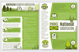 Vector brochure for landscape or gardening company